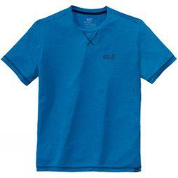 Jack Wolfskin Mens Crosstrail Tee Electric Blue