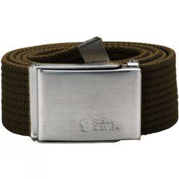 Fjallraven Mens Canvas Belt Dark Olive