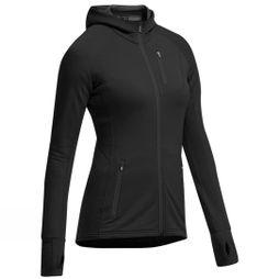 Icebreaker Womens Quantum Long Sleeve Zip Hood Black/Black/Black