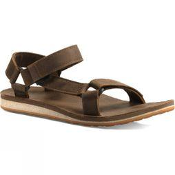 Teva Mens Original Universal Premium Leather Sandal Dark Earth
