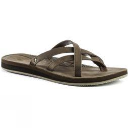 Teva Womens Olowahu Leather Flip Flop Bison