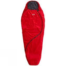 Jack Wolfskin Womens Smoozip +3 Sleeping Bag Red Fire