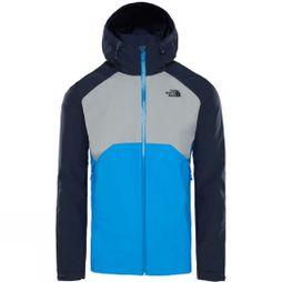The North Face Mens Stratos Jacket Bomberble/MidGrey/UrbNavy