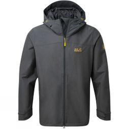 Jack Wolfskin Mens Oban Sky Jacket Ebony/ Yellow Green