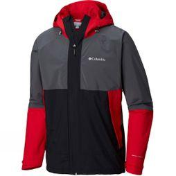 Columbia Mens Evolution Valley Jacket Mountain Red/Black/Graphite