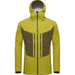 BlackYak Mens Lightweight Stretch 3L Jacket Golden Lime