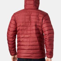 Columbia Mens Powder Lite Hooded Jacket Red Jasper/Dark Mountain