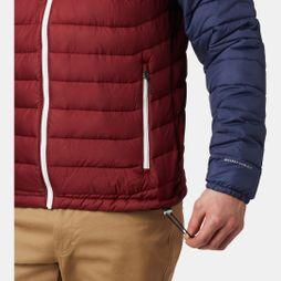 Columbia Mens Powder Lite Hooded Jacket Red Jasper/ Collegaite Navy