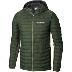 Columbia Mens Powder Pass Hooded Jacket Cypress Heather