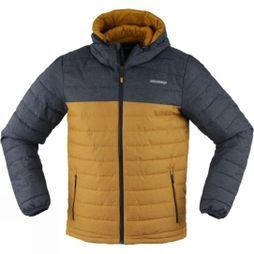 Ayacucho Mens Mount Everest Hooded Jacket Navy/Cathay Spice Denim
