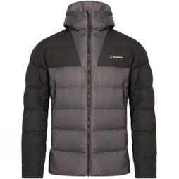 Berghaus Mens Ronnas Reflect Down Jacket Grey Pinstripe/Jet Black