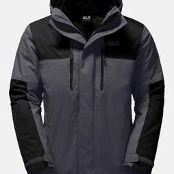 Jack Wolfskin Mens Jasper 3in1 Jacket Ebony