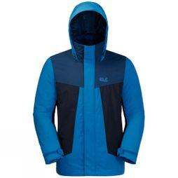 Jack Wolfskin Mens Apex Trail 3In1 Jacket Electric Blue