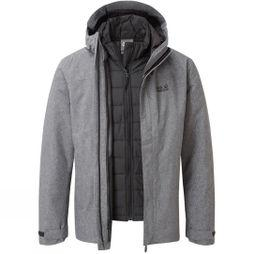 Jack Wolfskin Mens Glencoe Sky III 3in1 Jacket Phantom