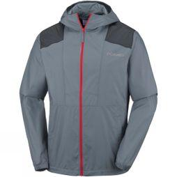 Columbia Mens Flashback Windbreaker Graphite/ Black