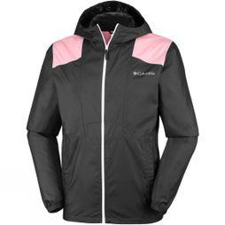 Columbia Mens Flashback Windbreaker Shark/ Rosewater