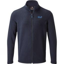 Jack Wolfskin Mens Tokee Full Zip Fleece  Night Blue/Electric Blue