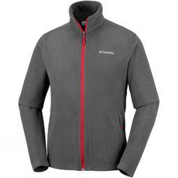Columbia Mens Fast Trek Light Full Zip Fleece Shark/Mountain Red
