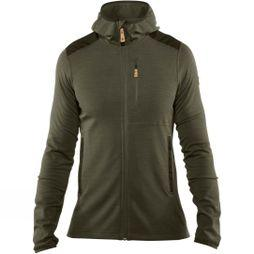 Fjallraven Mens Keb Fleece Hoodie Laurel Green-Deep Forest