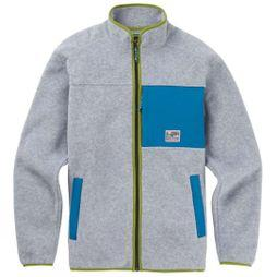 Burton Mens Hearth Fleece Full Zip Fleece Gray Heather