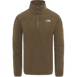 The North Face Mens 100 Glacier 1/4 Zip Fleece New Taupe Green