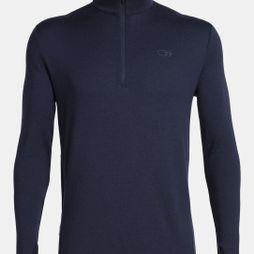 Icebreaker Mens Original Long Sleeve Half Zip Midnight Navy