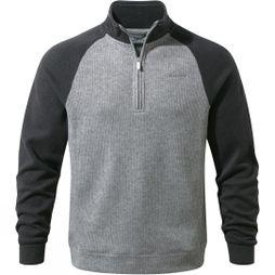 Craghoppers Mens Norton Half-Zip Fleece Black Pepper/Quarry Grey Marl