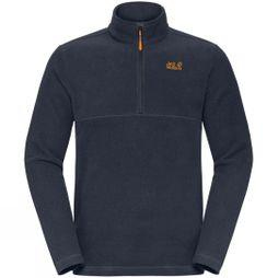Jack Wolfskin Mens Langdale 1/2 Zip Fleece Night Blue