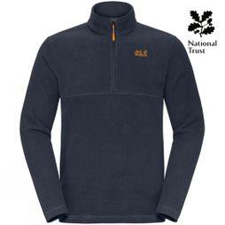 Jack Wolfskin Mens Dyffryn Fleece Night Blue/Curcuma Pop