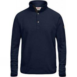 Fjallraven Mens Övik Fleece Sweater Dark Navy