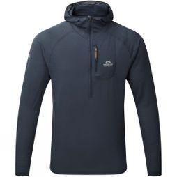 Mens Solar Eclipse Hooded Zip-T