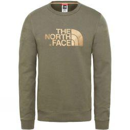 The North Face Mens Drew Peak Crew Light Sweatshirt New Taupe Green