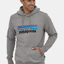 Patagonia Mens P-6 Logo Uprisal Hoody Gravel Heather