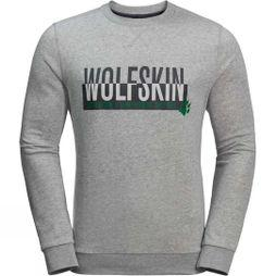 Jack Wolfskin Mens Slogan Sweatshirt Light Grey