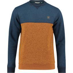 Ayacucho Mens Medros Crew Sweater Navy/Cathay Spice