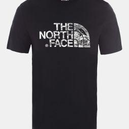 The North Face Mens Short Sleeve Woodcut Dome T-Shirt TNF Black