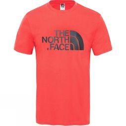 The North Face Mens Short Sleeve Easy Tee Salsa Red
