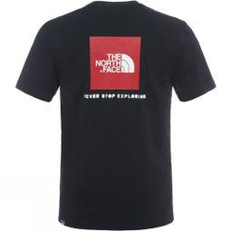 The North Face Mens Short Sleeve Red Box Tee TNF Black