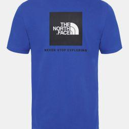 The North Face Mens Short Sleeve Red Box Tee Tnf Blue
