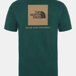 The North Face Mens Short Sleeve Red Box Tee Night Green