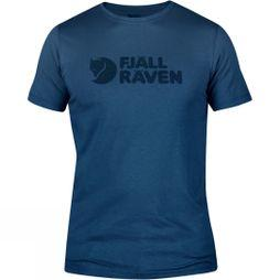 Fjallraven Mens Logo T-shirt Uncle Blue