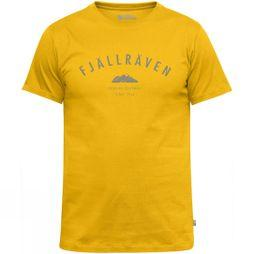 Fjallraven Fjall Mens Trekking Equipment T-shirt Warm Yellow