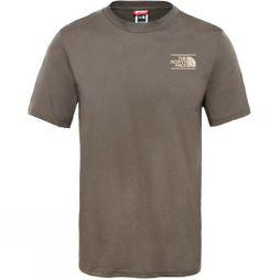 The North Face Mens Short Sleeve Mountain Exploration T-Shirt New Taupe Green