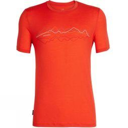 Icebreaker Mens Tech Lite Short Sleeve Crewe Icebreaker T-Shirt Chilli Red