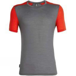 Icebreaker Mens Sphere Short Sleeve Crewe T-Shirt Timberwolf/Chilli