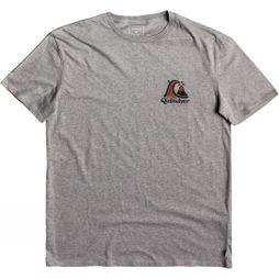 Quiksilver Mens Captain Slim Short Sleeve T-Shirt Quiet Shade Heather