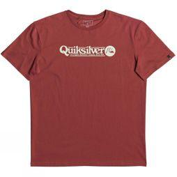 Quiksilver Mens Art Tickle Short Sleeve T-Shirt Brick Red