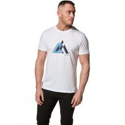 Craghoppers Mens Calvino Short Sleeve T-Shirt Optic White Geometric Mountain