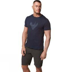 Craghoppers Mens Calvino Short Sleeve T-Shirt Blue Navy Forest Silhouette