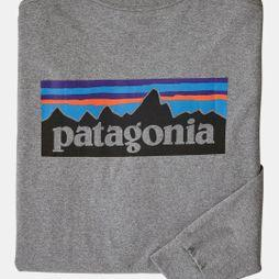 Patagonia  P-6 Long-Sleeved P-6 Logo-Tee Gravel Heather
